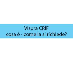 Visura CRIF