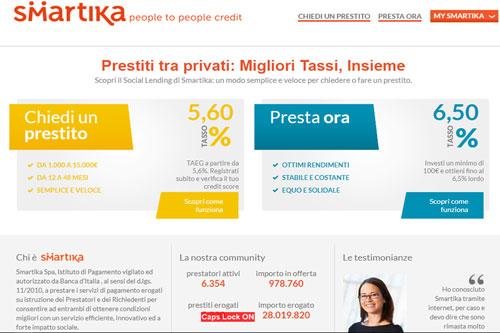 Prestiti tra Privati Smartika