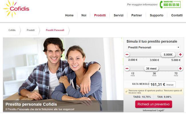 Prestiti Personali Cofidis