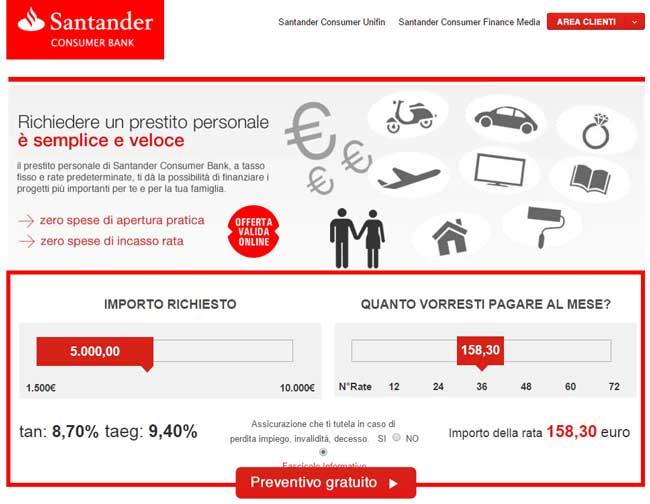 Prestiti Personali Santander