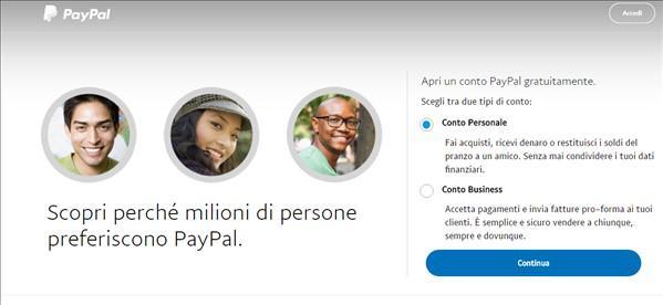 Come creare ed attivare un conto PayPal