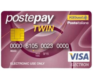 Carta prepagata Postepay Twin