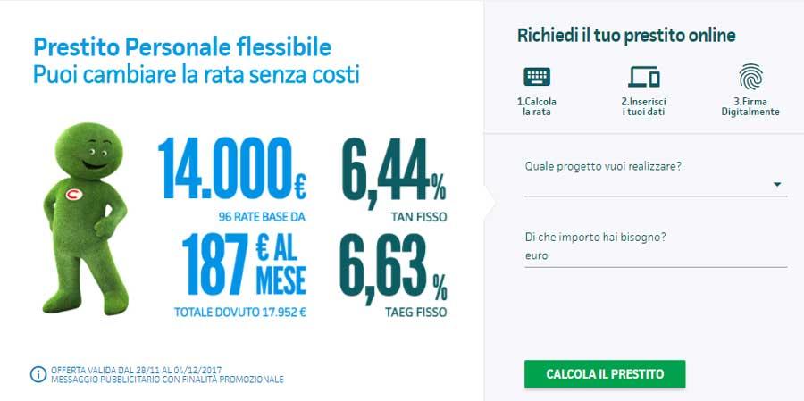 Offerta Findomestic per prestito personale con rata flessibile
