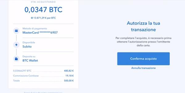 Bitcoin conferma