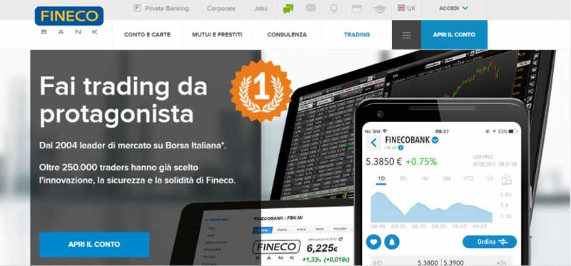 Fineco Bank - fai trading