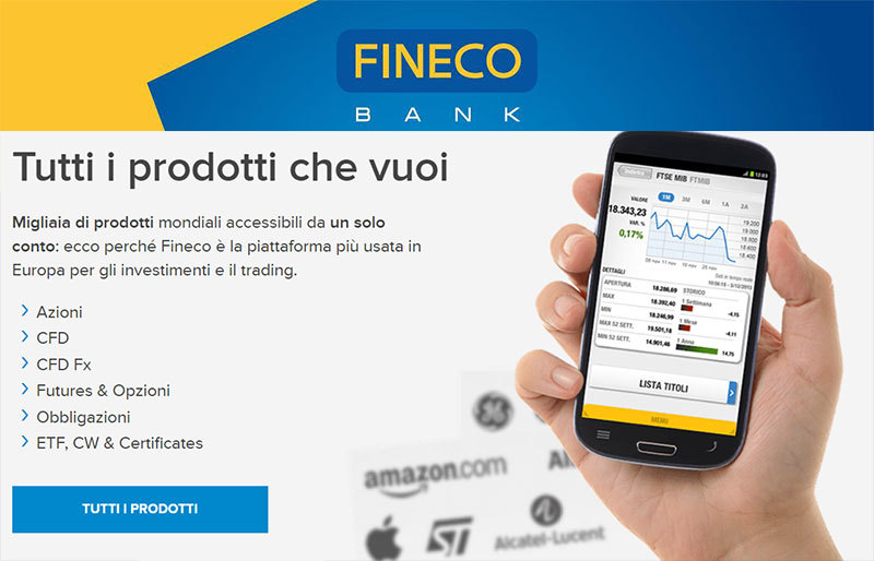 Trading Fineco Prodotti