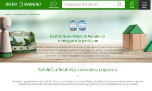 Piano di accumulo Intesa San Paolo