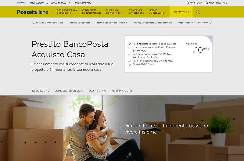 Prestito BancoPosta Acquisto Casa