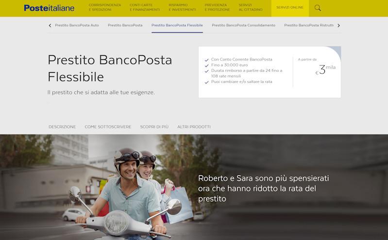 Prestito BancoPosta Flessibile