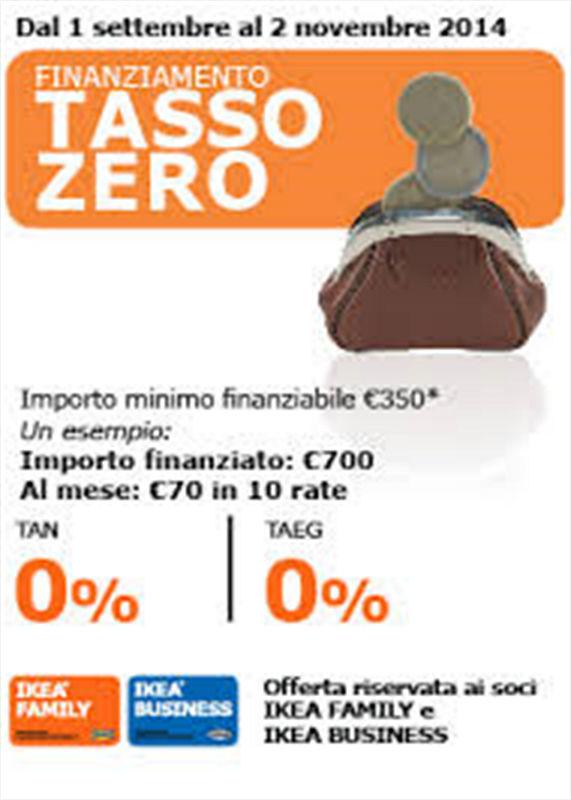 prestito tasso zero ikea