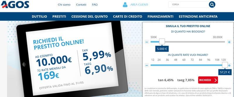 prestito 5000 euro agos
