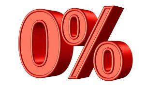 zero per cento tasso