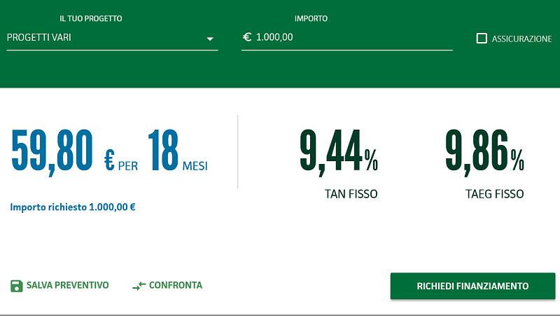 prestito 1000 euro Findomestic