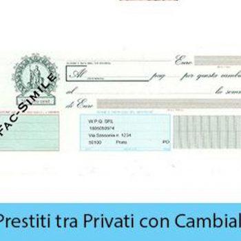 Prestiti a privati con cambiali