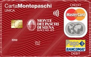 carta di credito montepaschi unica