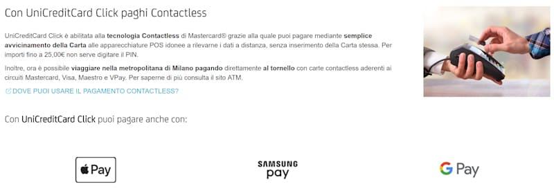 unicreditcard click sistemi di pagamento supportati