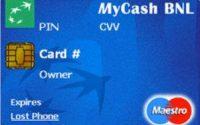 Carta prepagata MyCash BNL