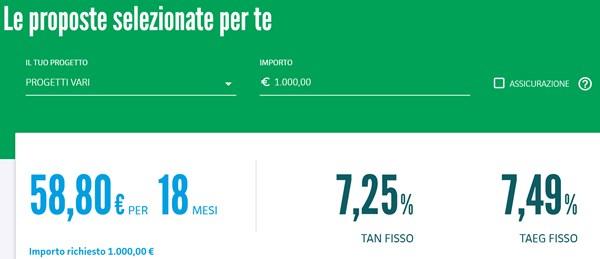 Findomestic simulazione prestito 1000 euro